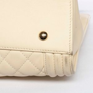 CHANEL Bags - Auth CHANEL Large Boy Quilted Leather Tote Handbag